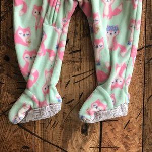 fcf1baa71c Carter s One Pieces - Mint Green   Pink Fox Fleece Zip Up Sleeper